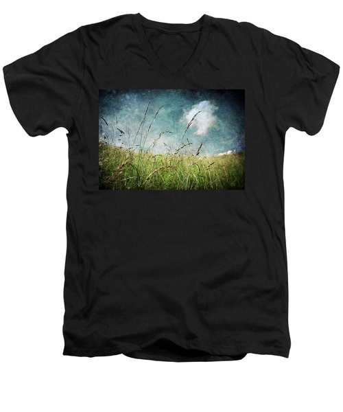 Men's V-Neck T-Shirt featuring the photograph Nature by Laura Melis