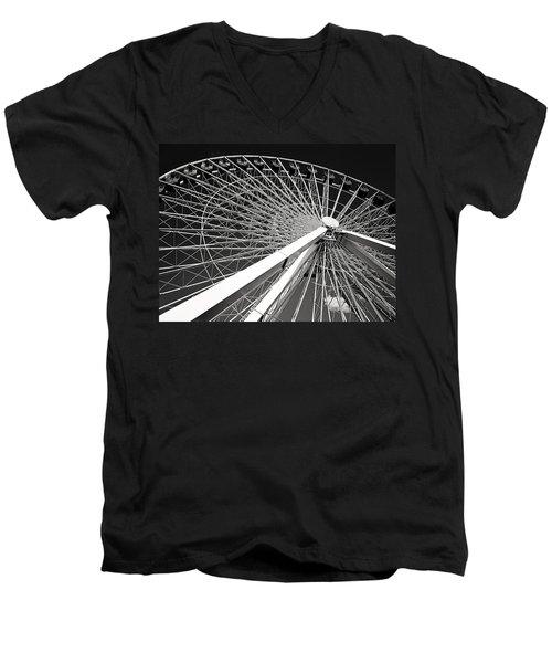 Navy Pier Ferris Wheel Men's V-Neck T-Shirt