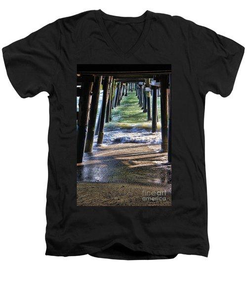 Neptune's Stairway Men's V-Neck T-Shirt by Mariola Bitner