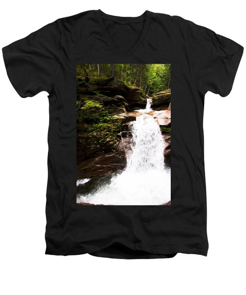 New Hampshire Waterfall Men's V-Neck T-Shirt
