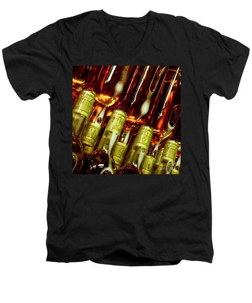 New Wine Men's V-Neck T-Shirt by Lainie Wrightson