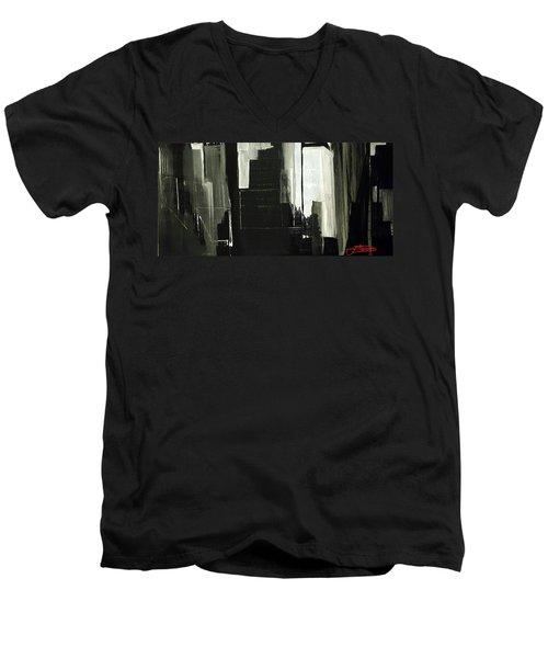 New York City Reflection Men's V-Neck T-Shirt