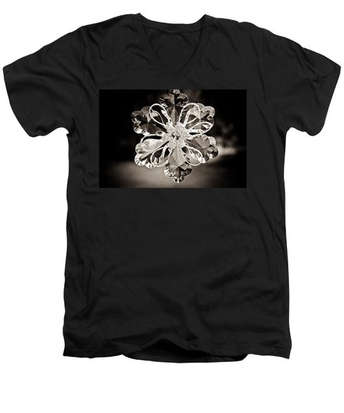 Men's V-Neck T-Shirt featuring the photograph Noir Reflections by Sara Frank