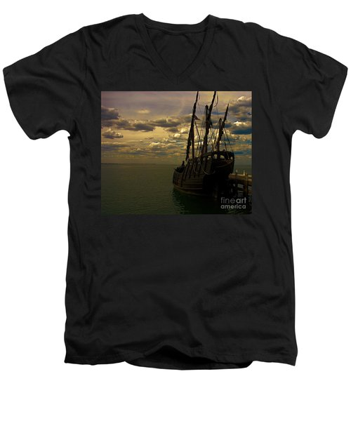 Notorious The Pirate Ship Men's V-Neck T-Shirt