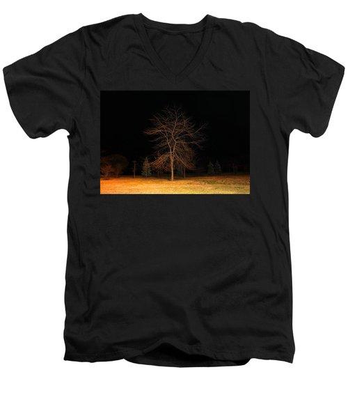 November Night Men's V-Neck T-Shirt by Milena Ilieva
