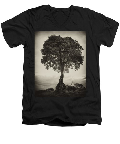 Men's V-Neck T-Shirt featuring the photograph Oak Tree by Hugh Smith
