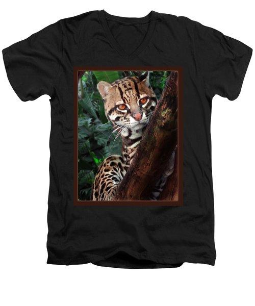 Ocelot Lookout Men's V-Neck T-Shirt