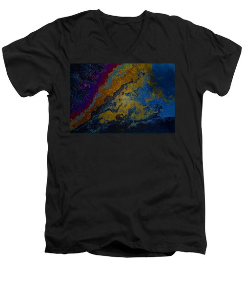 Oil On Pavement True Colors Men's V-Neck T-Shirt