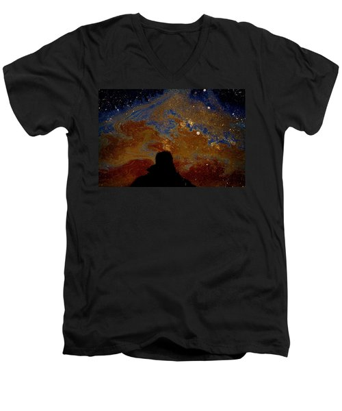 Oil On Pavement Visionary Men's V-Neck T-Shirt