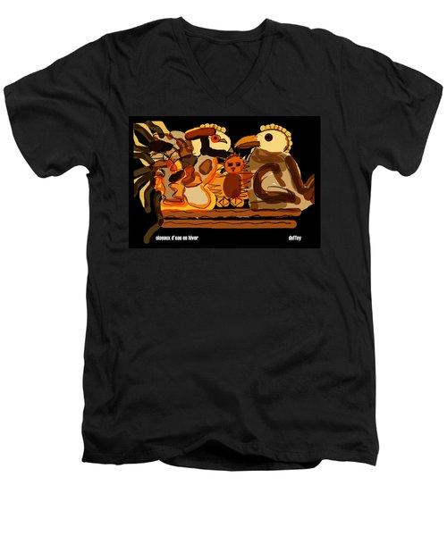 Oiseaux D'eau En Hiver Men's V-Neck T-Shirt