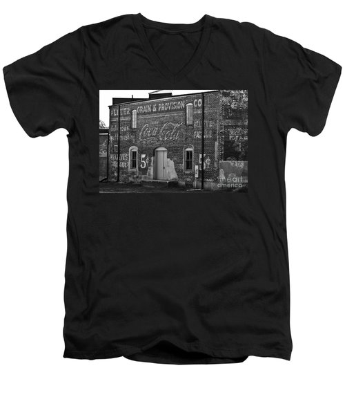 Old Building In Salisbury Nc Men's V-Neck T-Shirt