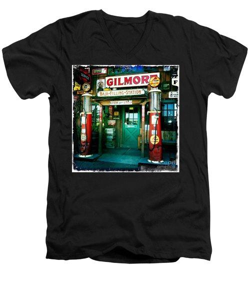 Old Fashioned Filling Station Men's V-Neck T-Shirt