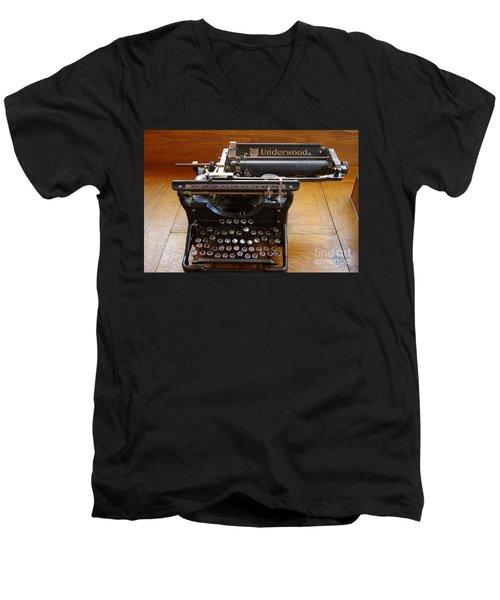 Men's V-Neck T-Shirt featuring the photograph Old West 8 by Deniece Platt