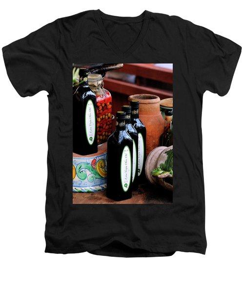 Olives And Olive Oil Men's V-Neck T-Shirt