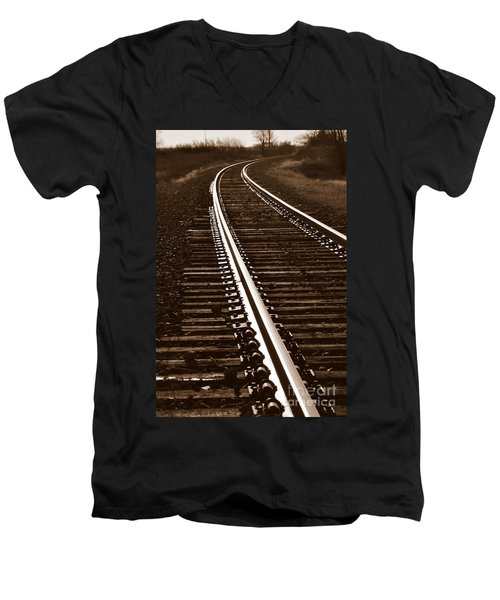 On The Right Track Men's V-Neck T-Shirt