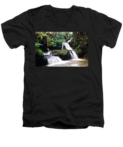 Onomea Falls Men's V-Neck T-Shirt