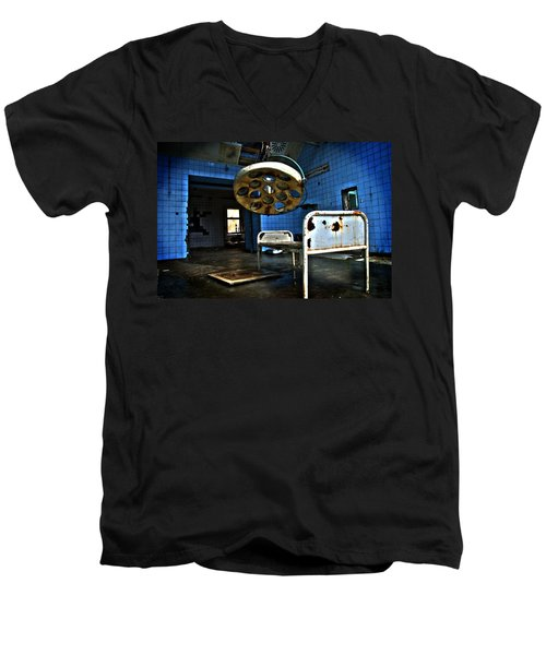 Operation Time Men's V-Neck T-Shirt by Nathan Wright