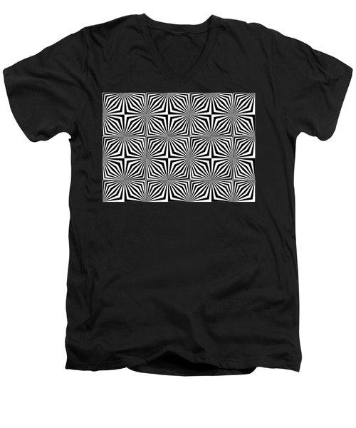 Optical Illusion Spots Or Stares Men's V-Neck T-Shirt