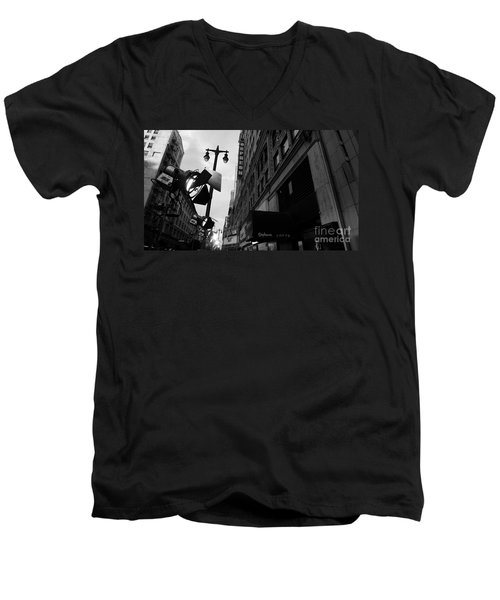 Men's V-Neck T-Shirt featuring the photograph Orpheum Theater by Nina Prommer
