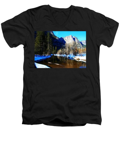 Over The Meadow Men's V-Neck T-Shirt