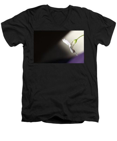 Men's V-Neck T-Shirt featuring the photograph Oxalis Bloom by Kume Bryant