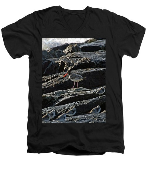 Oyster On The Rocks Men's V-Neck T-Shirt