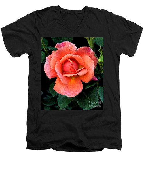 Painted Rose Men's V-Neck T-Shirt by Cindy Manero