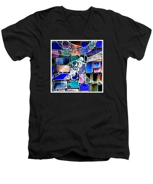 Painting The Old Bricks With Happiness Men's V-Neck T-Shirt