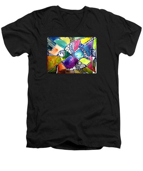 Paloma Viajera Men's V-Neck T-Shirt by Sandra Lira