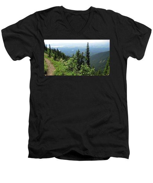 Panoramic Jewel Basin Montana Men's V-Neck T-Shirt