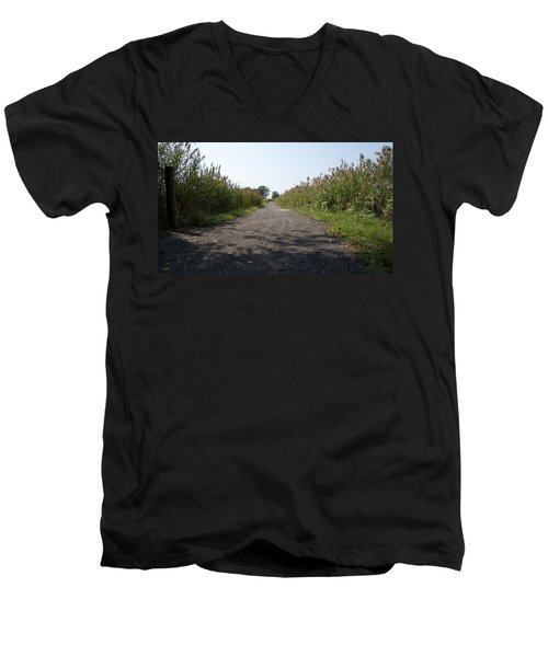 Men's V-Neck T-Shirt featuring the photograph Path To The Bay by Charles Kraus