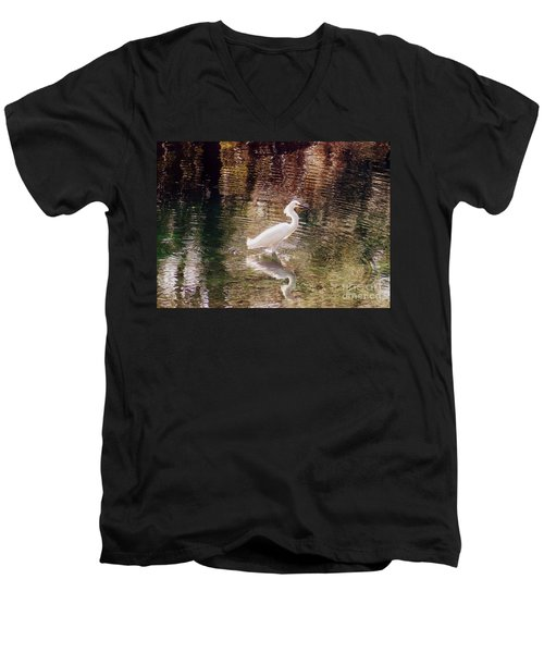 Men's V-Neck T-Shirt featuring the photograph Peaceful Waters by Lydia Holly