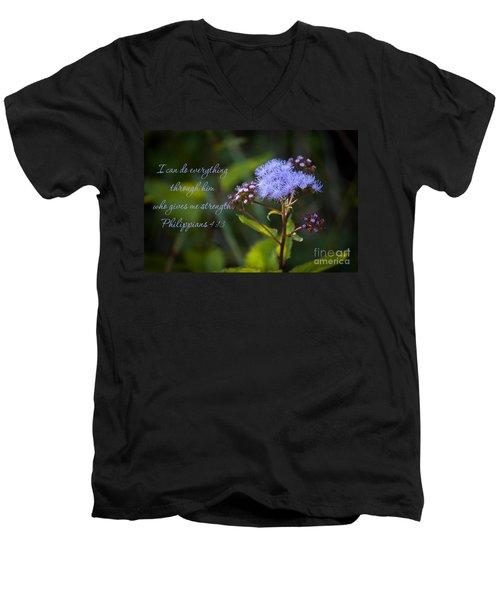 Philippians Verse Men's V-Neck T-Shirt