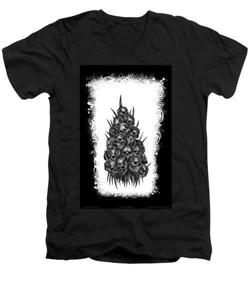 Pile Of Skulls Men's V-Neck T-Shirt by Tony Koehl