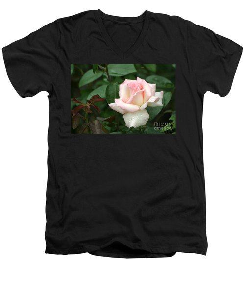 Men's V-Neck T-Shirt featuring the photograph Pink Promise by Living Color Photography Lorraine Lynch
