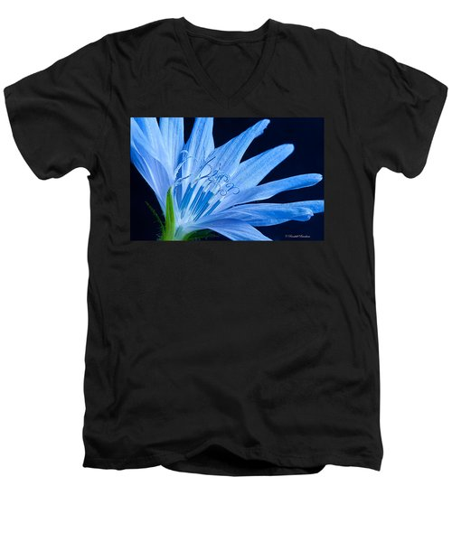 Men's V-Neck T-Shirt featuring the photograph Pistil's Of Chicory by Randall Branham