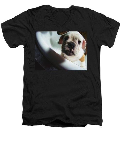 Plea For Help Men's V-Neck T-Shirt by Jeanette C Landstrom