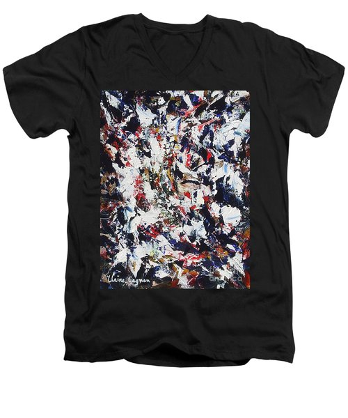 Pollock Men's V-Neck T-Shirt