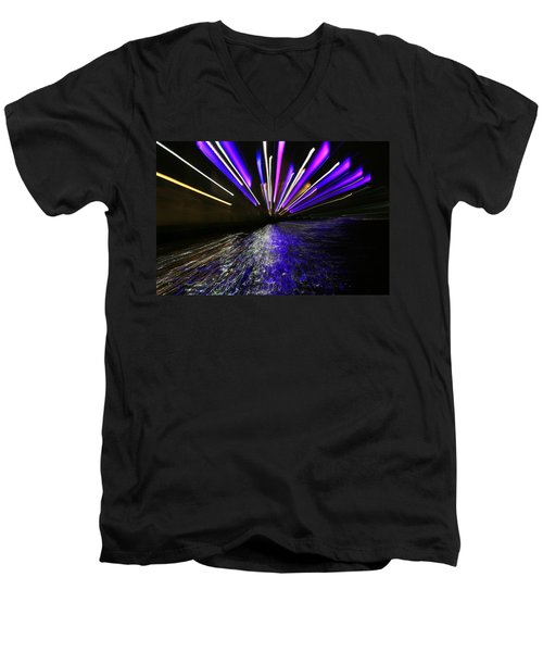 Port Slide Lightz Men's V-Neck T-Shirt