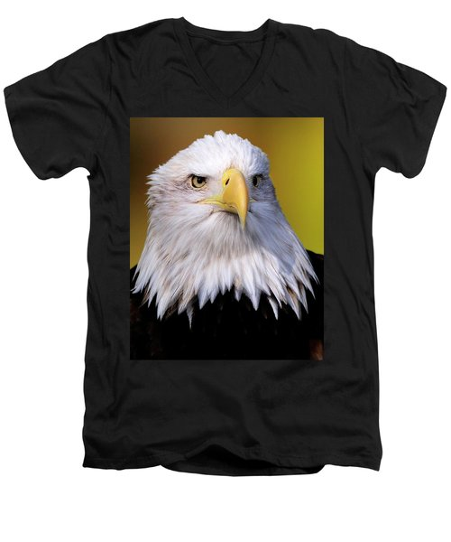 Portrait Of A Bald Eagle Men's V-Neck T-Shirt