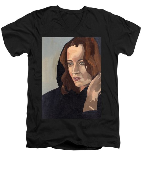 Portrait Of Becca 2 Men's V-Neck T-Shirt