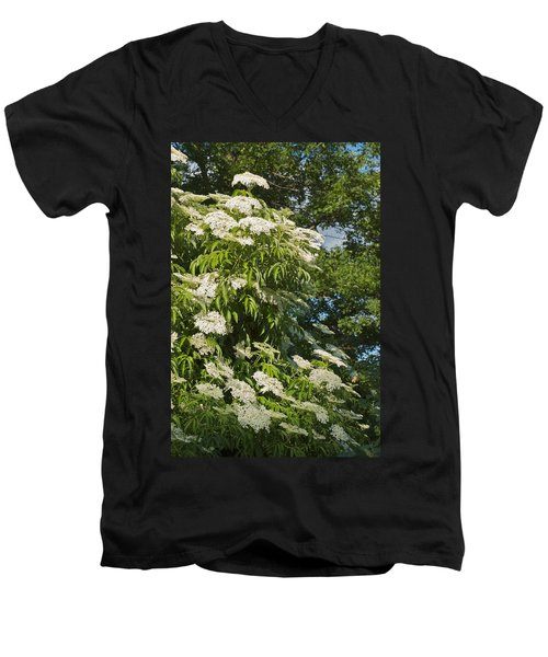 Men's V-Neck T-Shirt featuring the photograph Potchen's Cascade by Joseph Yarbrough