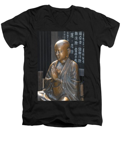 Praying Buddha Men's V-Neck T-Shirt
