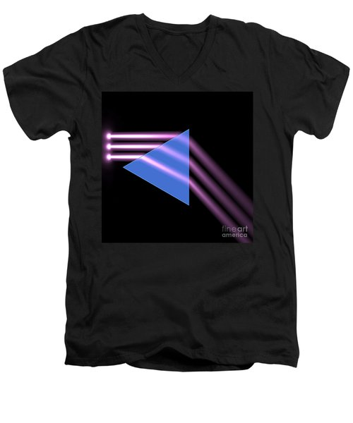 Men's V-Neck T-Shirt featuring the digital art Prism 1 by Russell Kightley