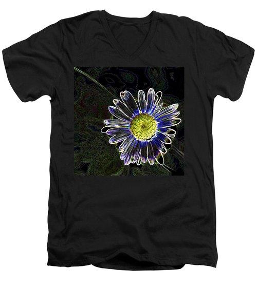 Psychedelic Daisy Men's V-Neck T-Shirt