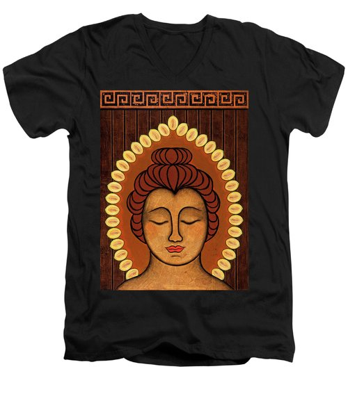 Men's V-Neck T-Shirt featuring the painting Radiant Peace by Gloria Rothrock