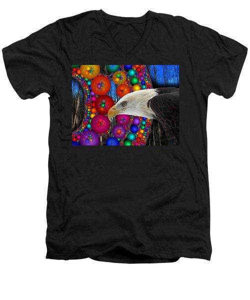 Rain Dance Men's V-Neck T-Shirt by Robert Orinski