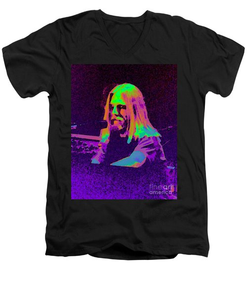Men's V-Neck T-Shirt featuring the photograph Rainbow Brent by Susan Carella