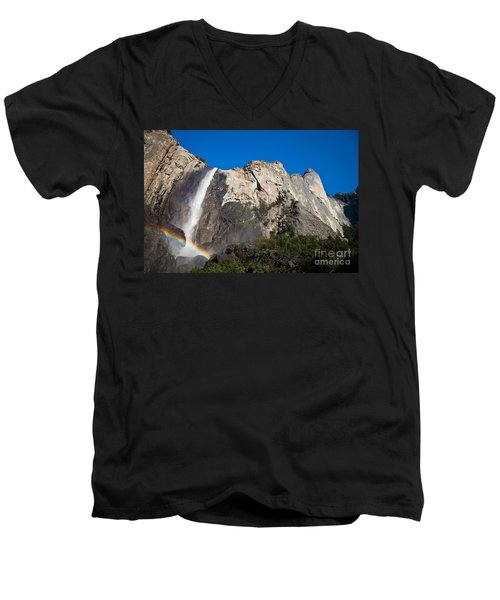 Rainbow On Bridalveil Fall Men's V-Neck T-Shirt