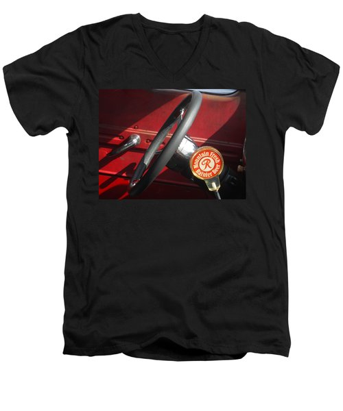 Men's V-Neck T-Shirt featuring the photograph Rainier Stick Shift  by Kym Backland